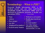 terminology what is phi