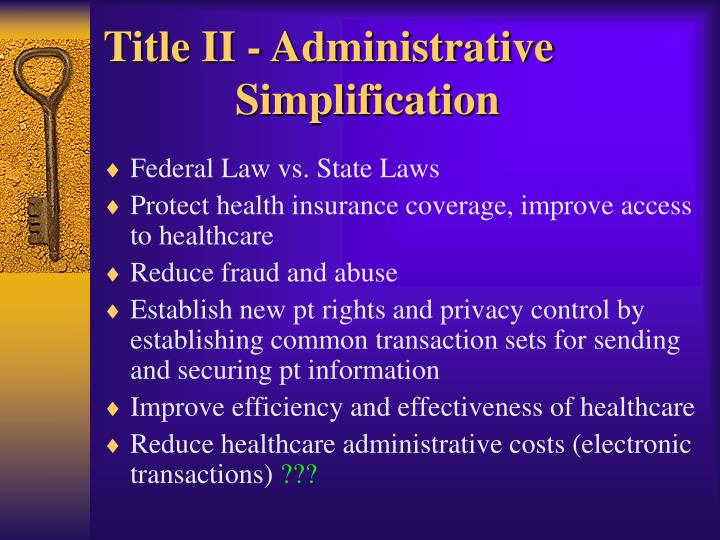 Title II - Administrative