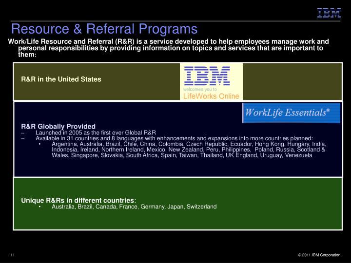 Resource & Referral Programs