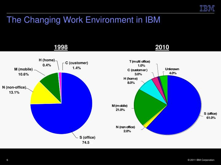 The Changing Work Environment in IBM