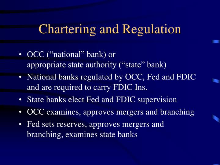 Chartering and Regulation