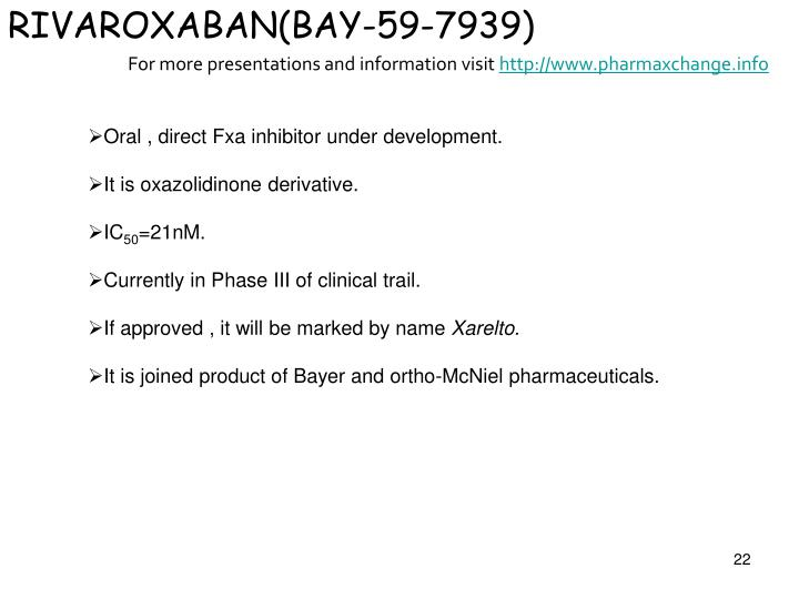 RIVAROXABAN(BAY-59-7939)
