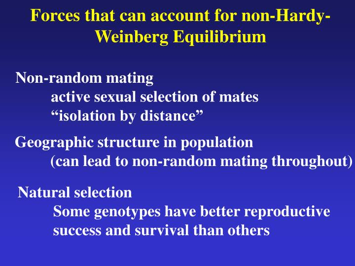 Forces that can account for non-Hardy-