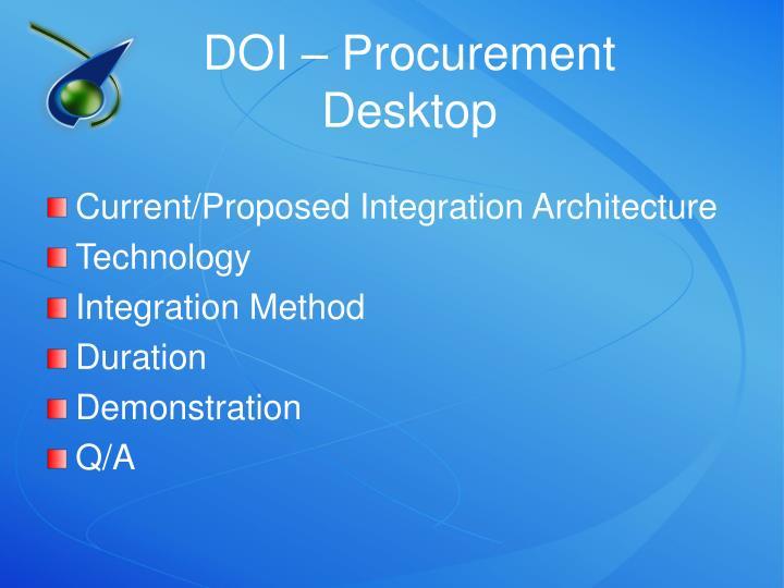 DOI – Procurement Desktop