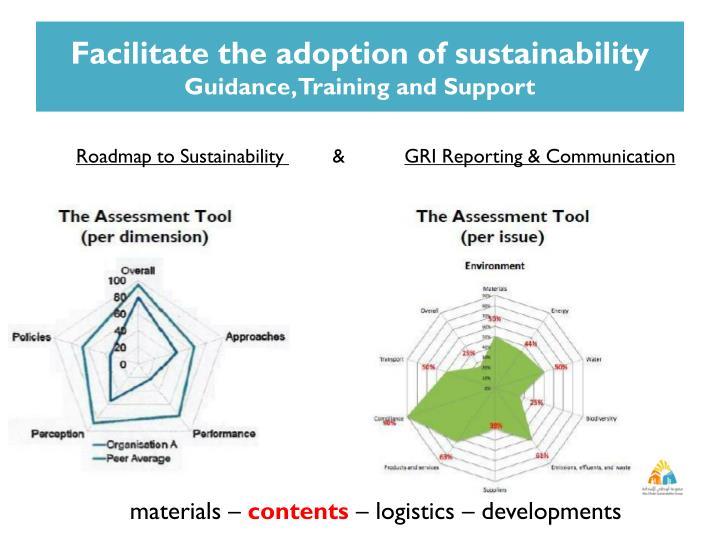 Facilitate the adoption of sustainability