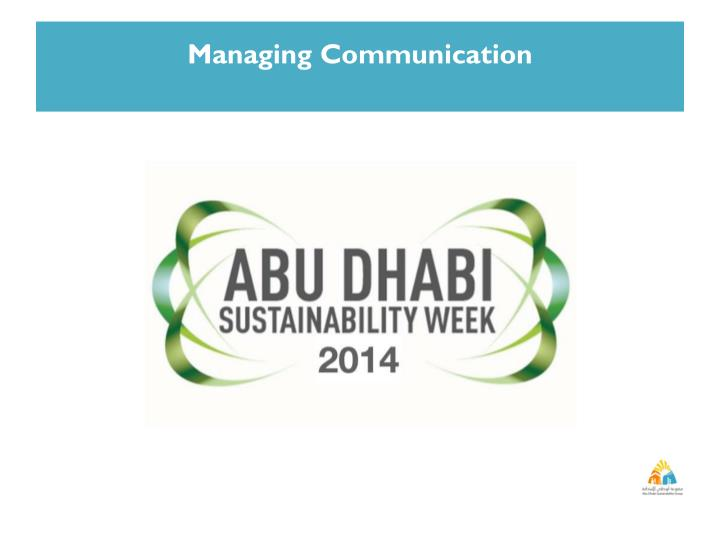 Managing Communication