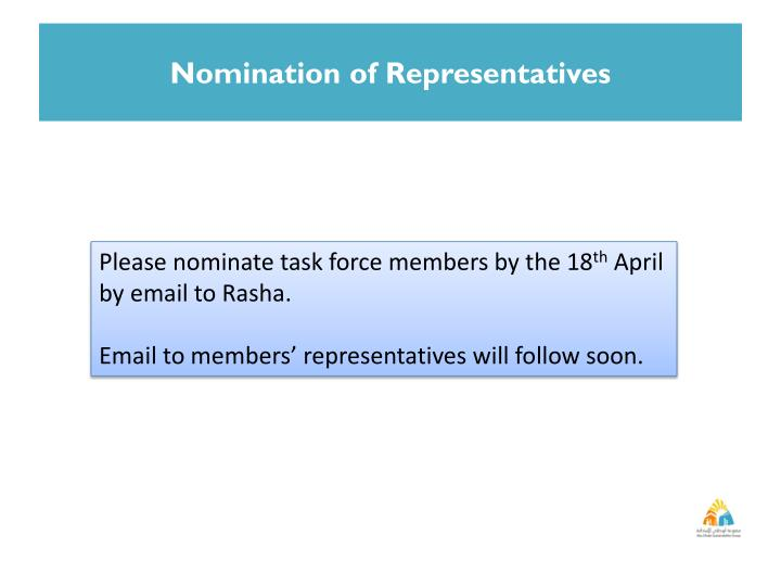 Nomination of Representatives