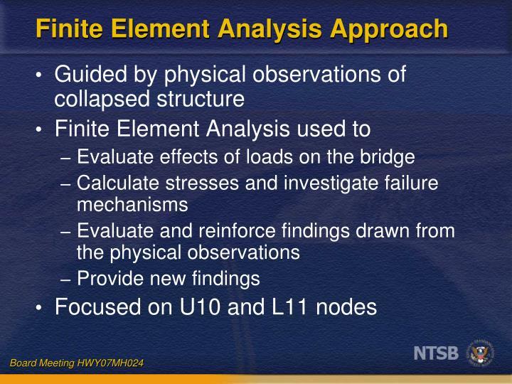 Finite Element Analysis Approach