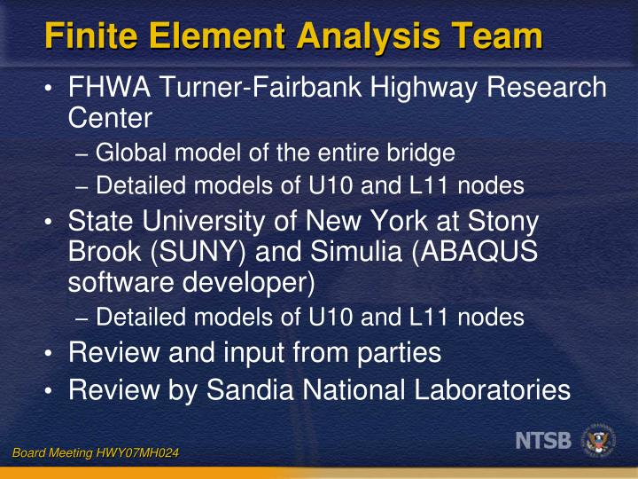 Finite Element Analysis Team