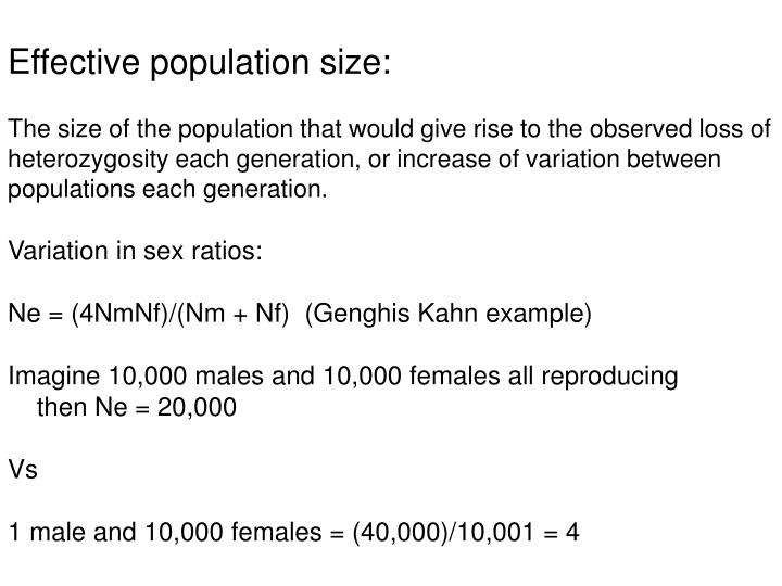 Effective population size: