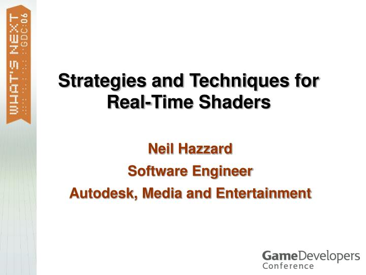 Strategies and Techniques for