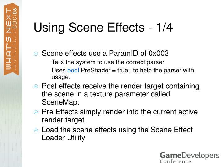 Using Scene Effects - 1/4