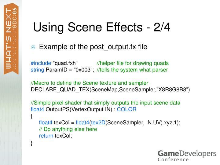 Using Scene Effects - 2/4