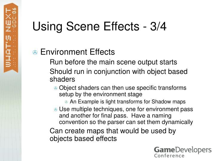 Using Scene Effects - 3/4