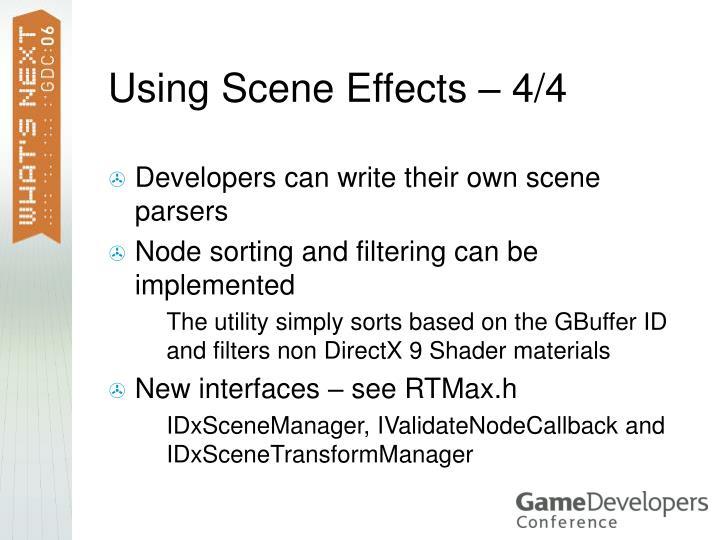 Using Scene Effects – 4/4