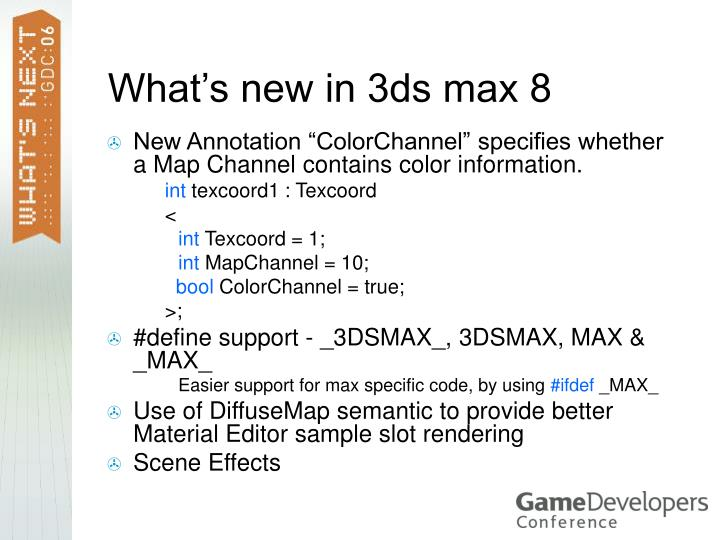 What's new in 3ds max 8