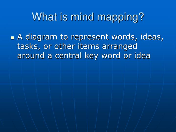 What is mind mapping?