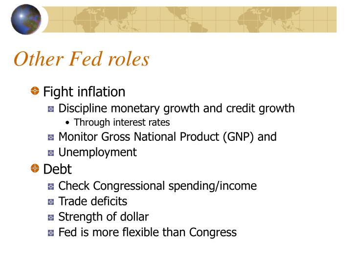 Other Fed roles