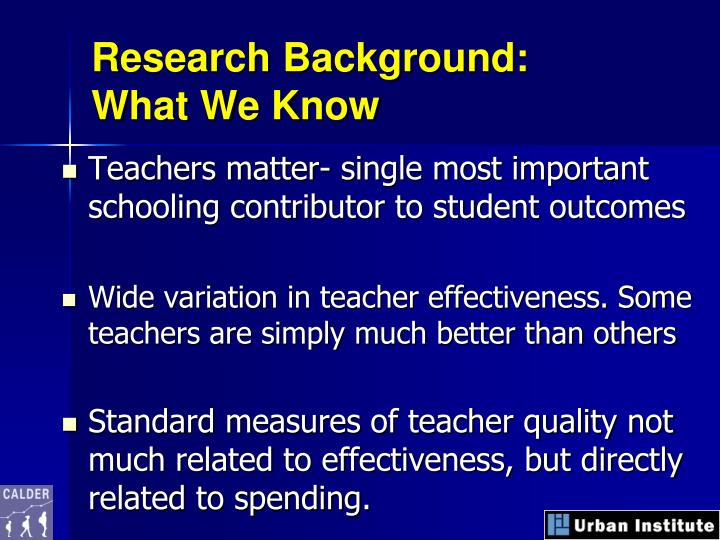 Research Background: