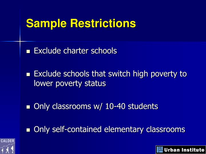 Sample Restrictions