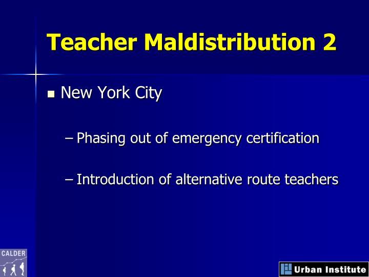 Teacher Maldistribution 2