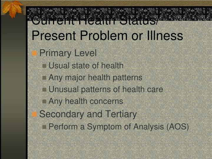 Current Health Status/