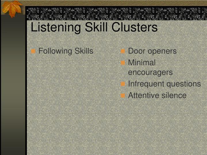 Following Skills