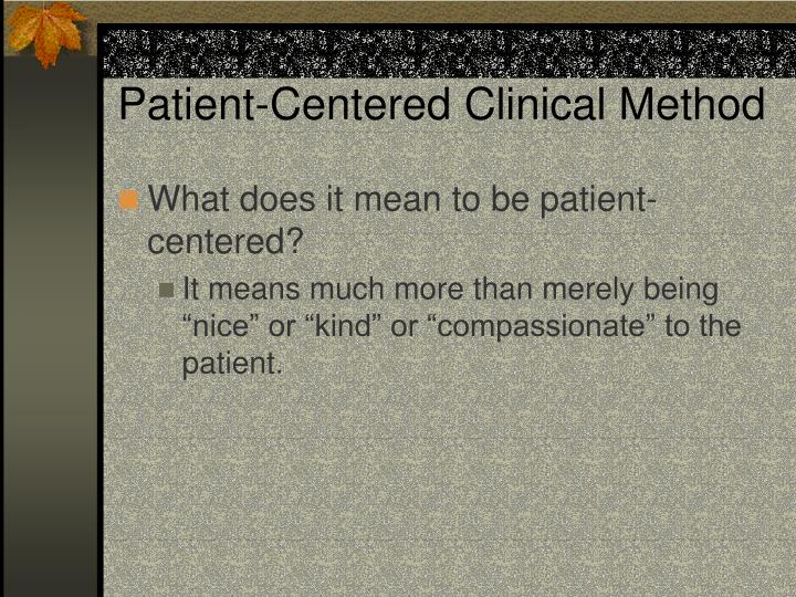 Patient-Centered Clinical Method