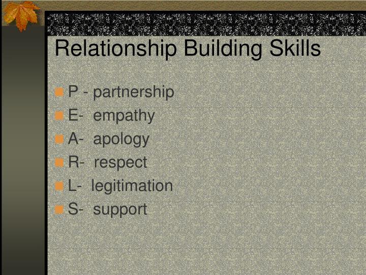 Relationship Building Skills