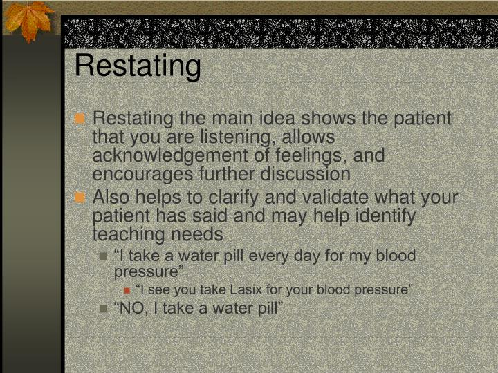 Restating