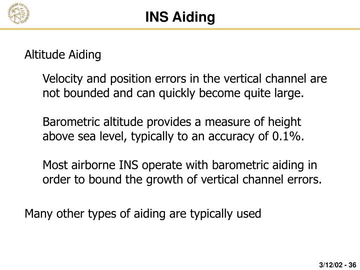 INS Aiding