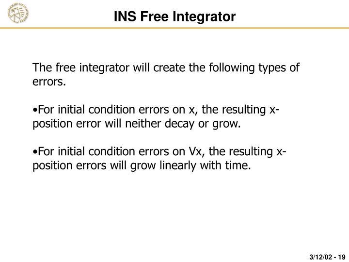 INS Free Integrator