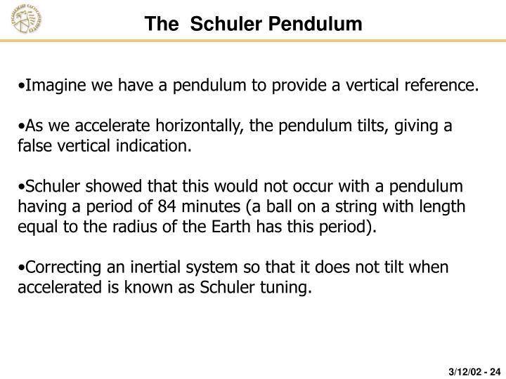 The  Schuler Pendulum