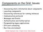 components on the grid issues