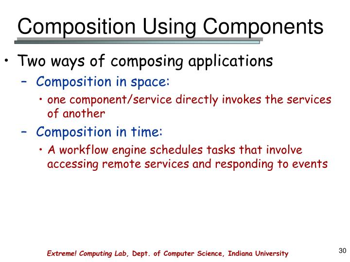 Composition Using Components