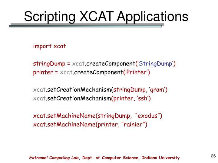 Scripting XCAT Applications