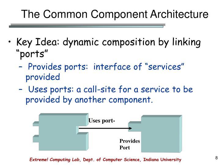 The Common Component Architecture