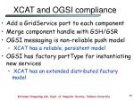 xcat and ogsi compliance