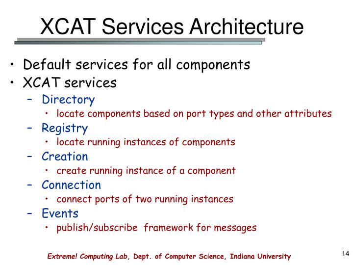 XCAT Services Architecture