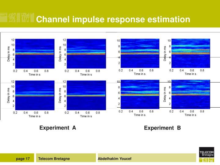 Channel impulse response estimation