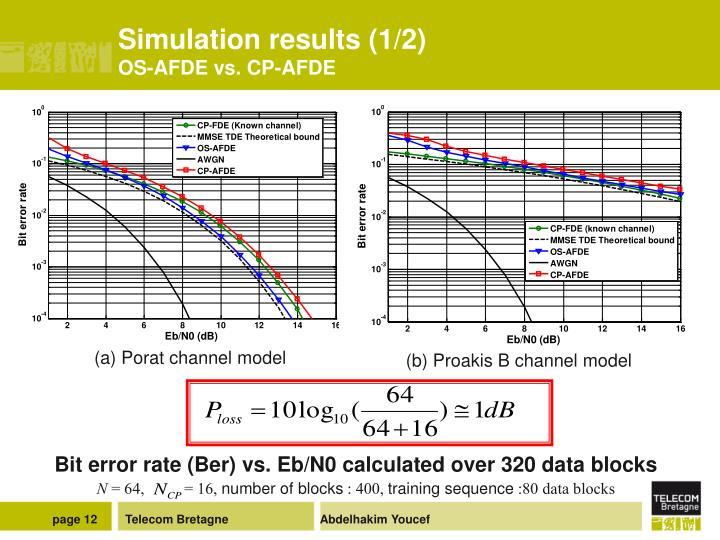 Simulation results (1/2)