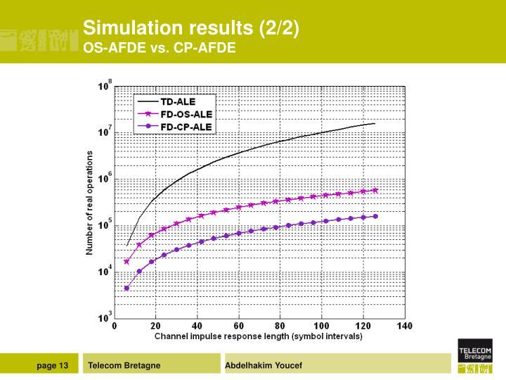 Simulation results (2/2)