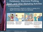 databases electronic profiling spam and other marketing activities2