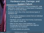 hardware loss damage and system failure