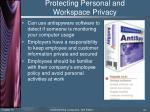 protecting personal and workspace privacy