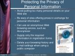 protecting the privacy of personal information2