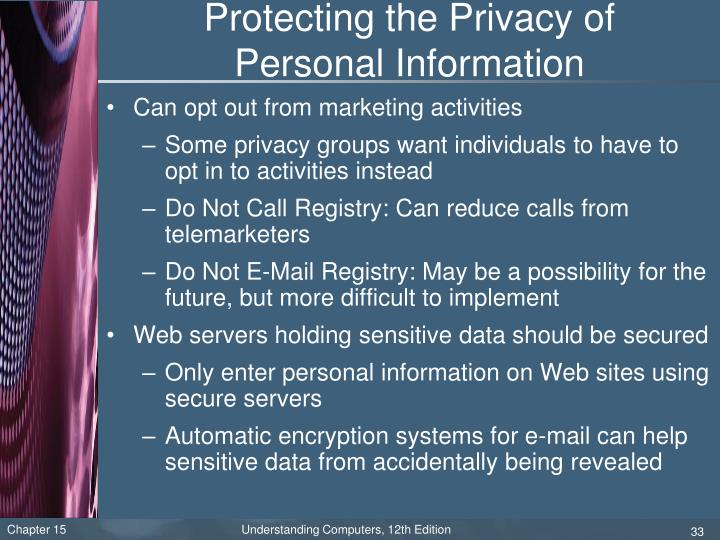 Protecting the Privacy of