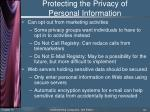 protecting the privacy of personal information5