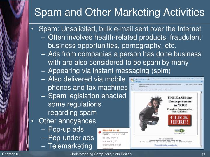 Spam and Other Marketing Activities