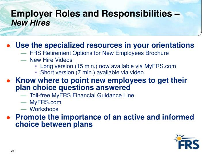 Employer Roles and Responsibilities –